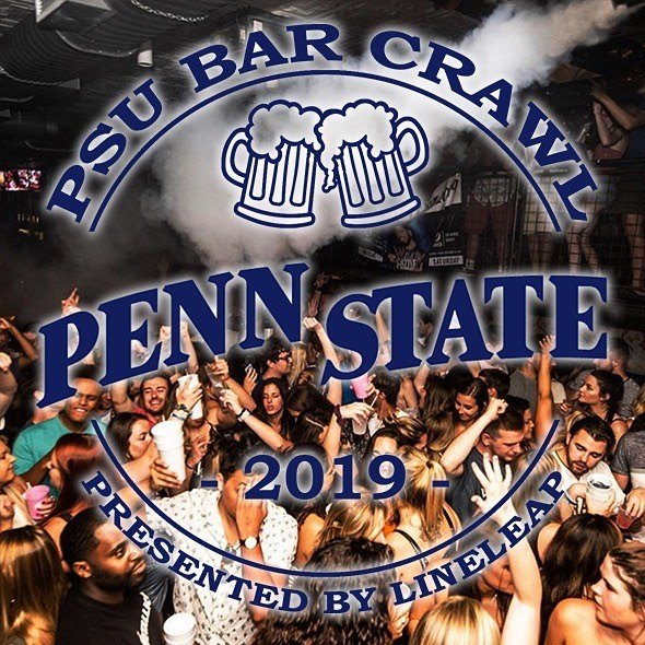 Thursday August 29th - Penn State's Back to School Bar Crawl! DM @lineleaptickets on Instagram if you are interested in promoting the Bar Crawl event. It is a paid position. More details on the event coming soon!