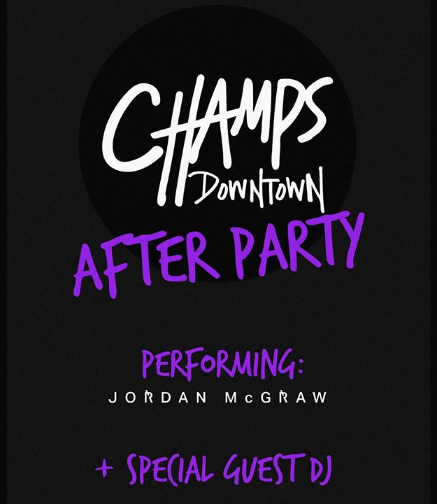 Tonight!!! Official Afterparty!!! A very special performance by @jordanmcgraw... And a surprise guest DJ!!! $10 cover